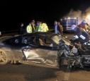 Der Audi R8 von Kevin Russell nach dem Unfall
