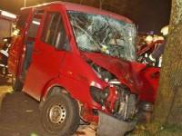 Das Model fuhr mit ihrem Wohnmobil in den Gegenverkehr, rammte ein Auto und endete an einem Baum.
