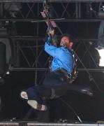 Hugh Jackman verletzte sich bei einem Stunt.