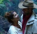 Die Stars wurden evakuiert und in die Hütte mit dem Dschungeltelefon gebracht.