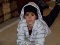Justin Bieber als er noch jünger war