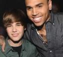 Chris und Justin Bieber