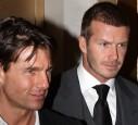 David Beckham und Tom Cruise