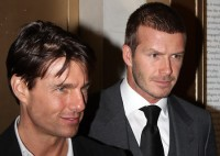 David Beckham und Tom Cruise